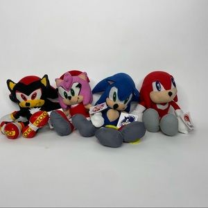 Lot of 4_Sonic Amy Shadow Knuckles Plush_2005